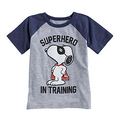 Toddler Boy Jumping Beans® Peanuts Snoopy 'Superhero In Training' Raglan Tee
