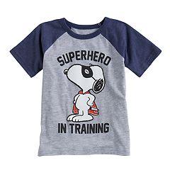 Toddler Boy Jumping Beans® Peanuts Snoopy 'Superhero In Training' Raglan Tee