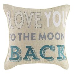 ''I Love You to the Moon and Back'' Throw Pillow