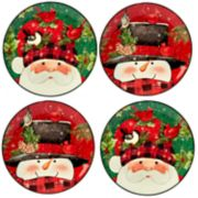Certified International Winter's Plaid 4-pc. Dessert Plate Set