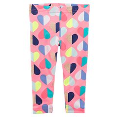 Baby Girl Carter's Glitter Heart Leggings