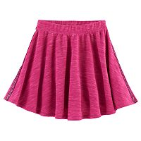 Girls Plus Size SO® French Terry Space-Dyed Circle Skirt
