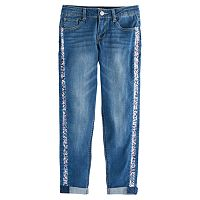 Girls 7-16 SO® Sequin Girlfriend Jeans