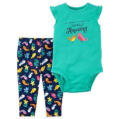 Baby Girl Carter's Bird Bodysuit & Leggings Set