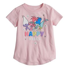 Toddler Girl Jumping Beans® DreamWorks Trolls Poppy & Branch 'Happy Vibes' Glitter Graphic Tee