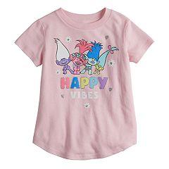 Toddler Girl Jumping Beans® DreamWorks Trolls Poppy & Branch 'Happy Vibes' Glitter Graphic Tee