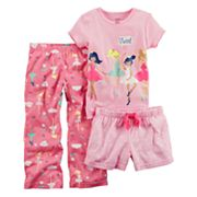 Baby Girl Carter's 3 pc Ballerina Pajama Set