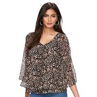 Women's Jennifer Lopez Patterned Chiffon Blouse