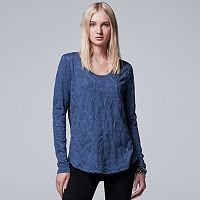 Women's Simply Vera Vera Wang Textured Scoopneck Tee