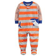 Baby Boy Carter's Shark Applique Striped Sleep & Play