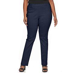 Plus Size Napa Valley Slimming Solution Straight-Leg Dress Pants