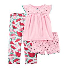 Toddler Girl Carter's 3-pc. Watermelon Pajama Set