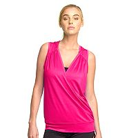Women's Colosseum Drop Needle Hooded Yoga Tank
