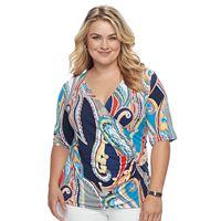 Plus Size Dana Buchman Wrap Top