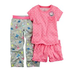 Toddler Girl Carter's 3-pc. Space Mouse Polka Dot Pajama Set