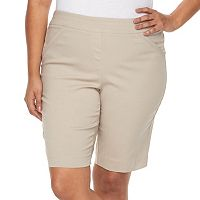 Plus Size Dana Buchman Pull On Bermuda Shorts