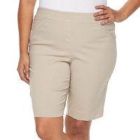 Plus Size Dana Buchman Pull On Bermuda Shorts