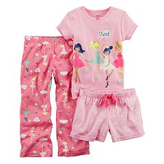 Toddler Girl Carter's 3 pc Ballerina 'Twirl' Pajama Set