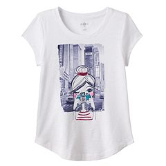 Girls Plus Size SO® Curved-Hem Graphic Tee