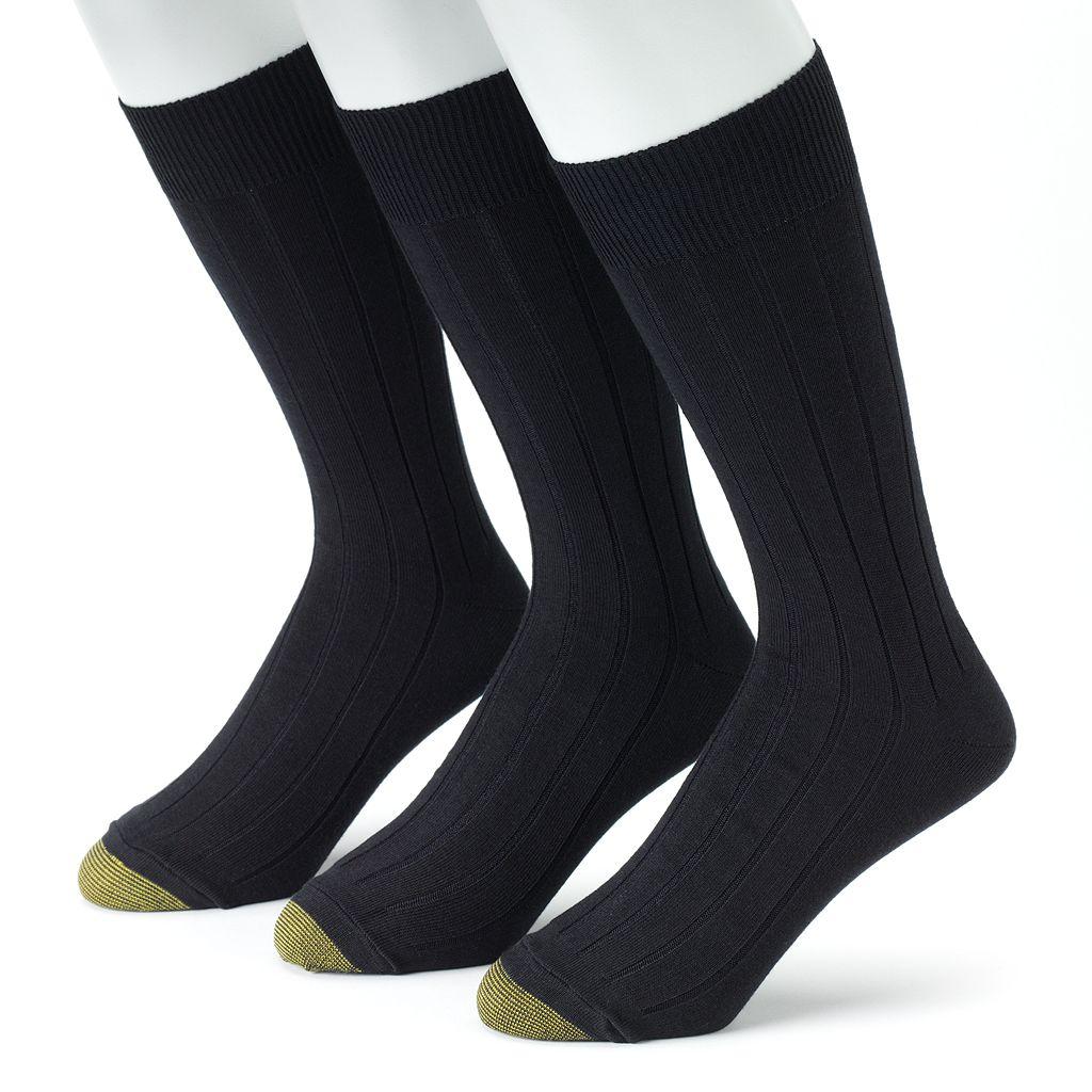 Men's GOLDTOE 3-pk. Hampton Pima Dress Socks