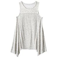 Girls 7-16 Mudd® Ribbed Sharkbite Hem Tank Top