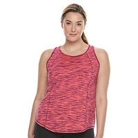 Plus size Tek Gear® Space-Dye Banded-Bottom Performance Tank