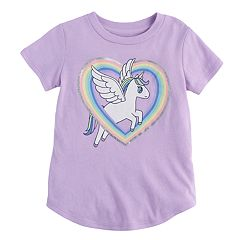 Toddler Girl Jumping Beans® Unicorn Heart Graphic Tee