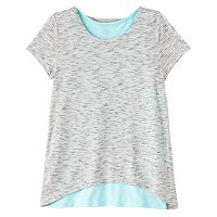 Girls Plus Size Double Layer Tulip Back Tank Top Tee