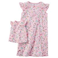 Toddler Girl Carter's Unicorn Night Gown Set