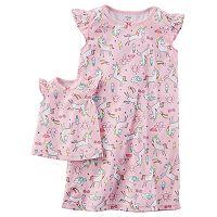 Toddler Girl Carter's Unicorn Night Gown Set