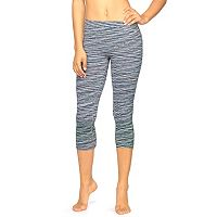 Women's Colosseum Space-Dye Seamless Capri Workout Leggings