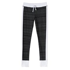 Girls Plus Size SO® Contrast Side Stripe & Cuff Leggings