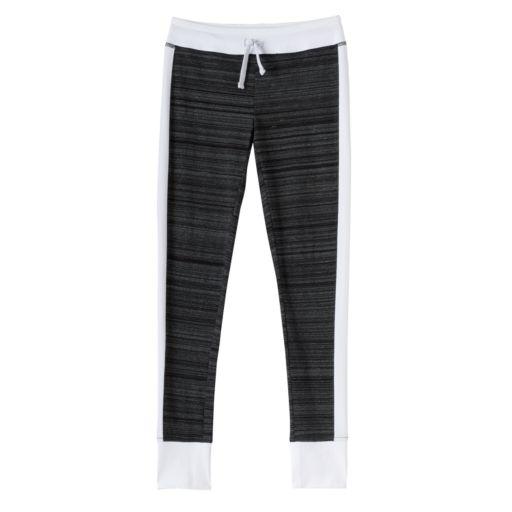 Girls Plus Size SO® Contrast Side Stripe & Cuff Leggings