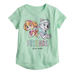 Toddler Girl Jumping Beans® Paw Patrol Skye & Everest 'Friends Furever' Glitter Graphic Tee