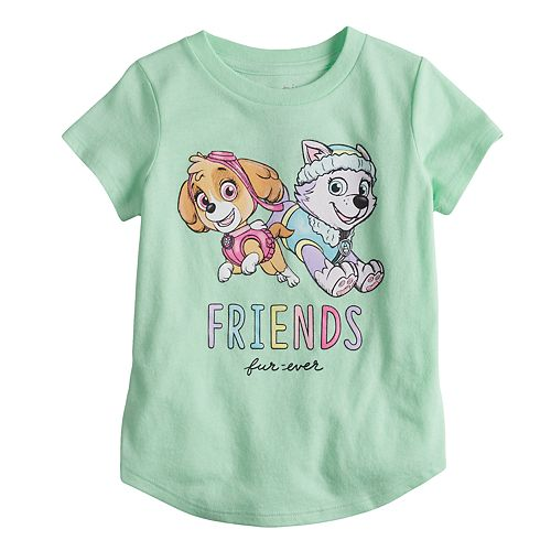 "Toddler Girl Jumping Beans® Paw Patrol Skye & Everest ""Friends Furever"" Glitter Graphic Tee"