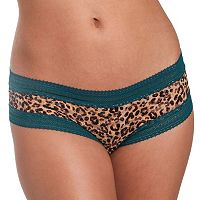 Juniors' Candie's® Print Lace Cheeky Panty