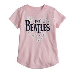 Toddler Girl Jumping Beans® 'The Beatles' Flower & Heart Glitter Graphic Tee