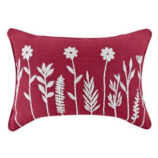 Floral Oblong Throw Pillow