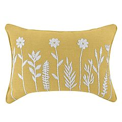 Floral Oblong Throw Pillow