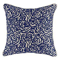 Floral Geo Throw Pillow