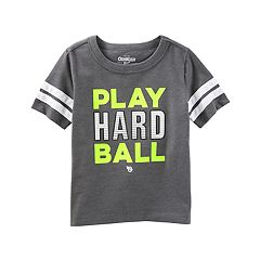 Toddler Boy OshKosh B'gosh® 'Play Hard Ball' Striped Tee