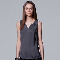 Women's Simply Vera Vera Wang Pleated Satin Tank