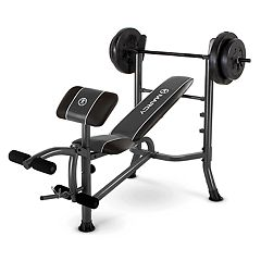 Marcy 10 pc Standard Weight Bench & 80-lb. Weight Set