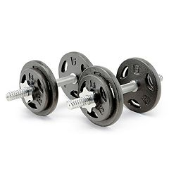 Marcy 15 pc Carrying Case & 40-lb. Dumbbell Weight Set