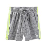 Toddler Boy OshKosh B'gosh® Striped Gray Mesh Shorts