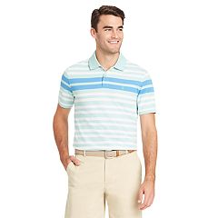 Men's IZOD Advantage Sportflex Regular-Fit Engineer-Striped Performance Polo