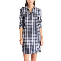 Women's Chaps Plaid Twill Shirt Dress