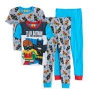 Boys 4-10 Lego Batman Movie Glow-In-The-Dark 4-Piece Pajama Set