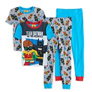 Boys 4-10 Lego Batman Movie Glow-In-The-Dark 4 pc Pajama Set
