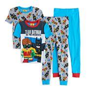 Boys 4-10 Lego Batman Movie Glow-In-The-Dark 4 pc Pajama Set
